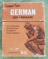 Compact Facts German Grammar Cards, a 1963 -Vis-Ed rare collectible vintage 1963