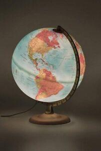 Globus Tecnodidattica Weltkarte Atmosphere Rilievo Kartografie Deko beleuchtet