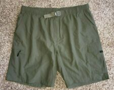 NWOT COLUMBIA Mens Hiking Fishing Swim Cargo Nylon Shorts Mesh Liner Green XL