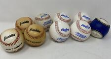 Lot of 9 Baseballs Rawlings Official League CROLB x5 & Franklin Soft-Strike x4