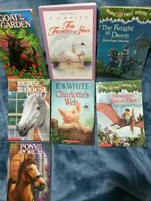 Lot Of 7 Books Animal Ark Books, Magic Tree House, The Trumpet Of The Swan.