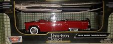 1956 Ford Thunderbird Convertible Die-cast Car 1:18 Motormax 9 inches Red