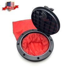 6'' Black&Red Hatch Cover Deck Plate Kit Bag with 8 screws for Marine Boat Kayak