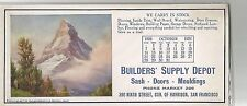 Builders' Supply Depot Sash-Doors-Moldings San Francisco Ad Blotter 1928