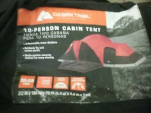 Ozark Trail 10 Person Cabin Tent 21x15 NO RAINFLY