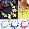 Charm Jewelry Crystal Chunky Statement Bib Pendant Chain Fashion Women Necklace