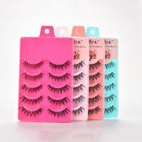 5 Pair Natural Soft Eye Lashes Makeup Handmade Thick Fake False Eyelashes Vogue