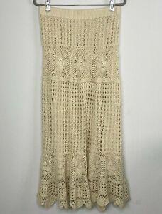 Boston Proper Womens Size S Small Crochet Bohemian Chic Maxi Skirt / Tube Dress