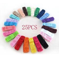 Pop Modish   25 Bulk Baby Girls Cute Toddler Crochet Hair Head Band Hairband