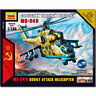 ZVEZDA 7403 MIL-24V Soviet Attack Helicopter Snap Fit Model Kit 1:144 Hotwar