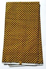 Brown And Yellow African Fabric; Fabric in yards, Fabric in 6yards