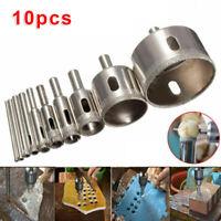 10pcs Diamond Hole Saws 3-50mm Drill Bit Glass Marble Cutting Workshop Equipment