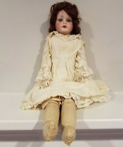 1915(approx) Porcelain Doll - Real Hair - Original Dress - Eyes Open and Close