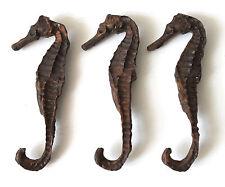 3 Seepferdchen wie echt 9cm Gießharz zur Dekoration z.B. in Fischernetz Reuse