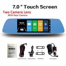 7''HD 1080P Touch Screen Dual Lens Car Dash Cam DVR Rearview Mirror Video Camera