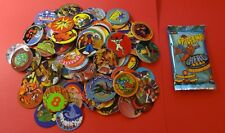 Pogs 120 Miscellaneous Variety + Spiderman Blue Hero Pack * 1 Slammer/6 Caps