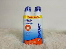 Equate Sunscreen Spf 30 Sport Twin Pack New