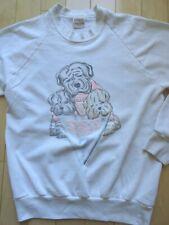 Vtg 1987 Guess Sweatshirt Shar Pei Pastel Dogs Medium Usa Cool