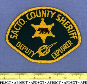 SACRAMENTO COUNTY SHERIFF DEPUTY EXPLORER (Old Vintage) CALIFORNIA Police Patch