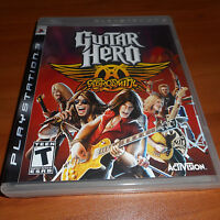 Guitar Hero: Aerosmith (Sony PlayStation 3, 2008)  PS3 With Manual