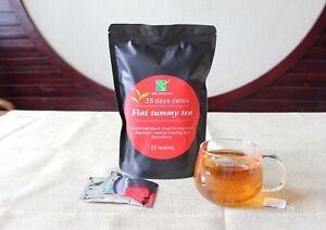 28 Days Flat Tummy Tea, Organic Weight Loss, Herbal, Detox, Colon Cleanser tea
