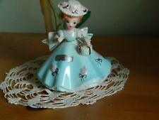 Vintage Joef Originals April Girl Holding Present Flowered Hat