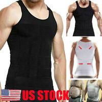 US Ultra Lift Body Slimming Shaper For Men Chest Compression Shaper Vest Top