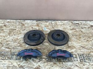 FORD MUSTANG GT 2015-2019 OEM FRONT BREMBO BRAKE CALIPERS WITH ROTORS (SET). 53K
