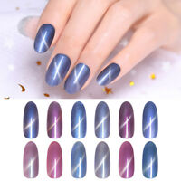 Harunouta 12ml Cat Eyes UV Gel Polish 3D Magnetic Soak Off Nail Art Gel Varnish