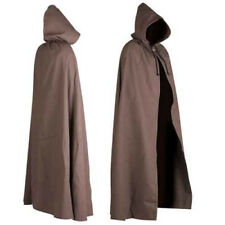 BROWN HOODED CAPE//CLOAK-HALLOWEEN-HOBBIT SKYWALKER LORD RINGS-UK MADE