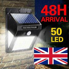 50 LED Solar Sensor Flood Lights Wall Outdoor Garden Path Fence Lamp Security