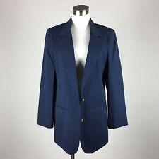 Sag Harbor Womens Blazer Size 8 Navy Blue 2 Button Slit Pockets Lined