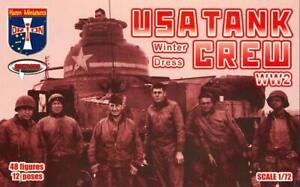 Orion Models 1/72 USA WWII TANK CREW Winter Dress Figure Set