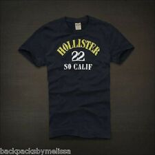 HOLLISTER Authentic NAVY 22 So Calif Shirt Small S NeW Soft Cotton Short Sleeve
