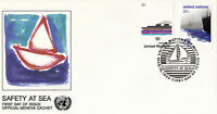 UNITED NATIONS 1983 SAFETY AT SEA FIRST DAY COVER NEW YORK SHS