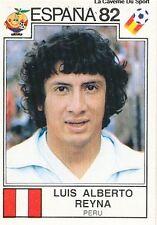 LUIS ALBERTO REYNA WORLD CUP 1982 STICKER PANINI FIGURINE PERU PEROU