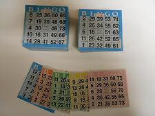 1000 bingo PAPER cards (200 books 5 colors ea!)