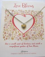 Brighton Love Blooms Necklace- reversible pendant- heart shape- Love- petite