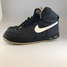 Nike mens air force 1 trainers size UK 10 navy high tops shoes eu 45 sneakers