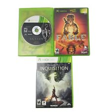 Lot/Bundle of 3 RPG Games: Skyrim, Dragon Age Inquistion, Fable, Xbox & 360