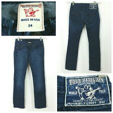 True Religion Jeans Billy Super T Blue Patch Womens Size 24