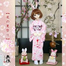 [Infinite Love] LIMITED pink rabbit yukata outfit MSD 1/4 size BJD doll use
