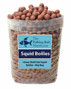 SQUID Carp Fishing Boilies 15mm 1kg-20kg - Shelf Life Boilies - Coarse Fishing