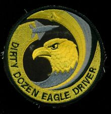 USAF 12th Fighter Squadron Dirty Dozen Eagle Driver Patch CIRCLE