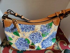 Dooney Bourke Handbag Beautiful Blueish - Purple Hydrangea. Red interior key hol