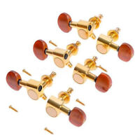 Acoustic Guitar String Enclosed Tuning Pegs Tuners Keys Machine Heads Gold 3L3R