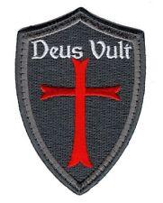 Deus Vult Cross Shield ACU christian Templar Knight in God Wills Hook Patch