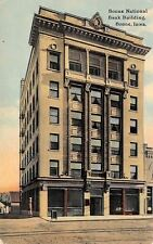 Boone Iowa~National Bank Building~Barber Shop Pole on Corner~1912 Postcard