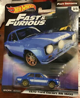 HOT WHEELS FAST & FURIOUS FAST IMPORTS BRIAN's 1970 FORD ESCORT RS 1600 New Mint