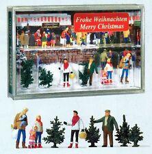 Weihnachtsbaumverkauf Preiser 10627 Figuren Spur HO (16,5 mm) Zubehör OVP